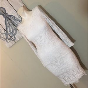 Hot&Delicious white lace dress